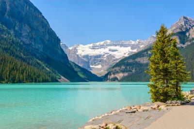 Fototapete Majestic Bergsee in Kanada. Louise Seeansicht in Banff, Alberta, Kanada.