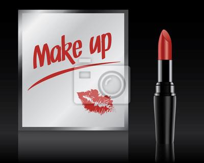 Make Up Spiegels : Make up auf spiegel von lippenstift vector geschrieben fototapete