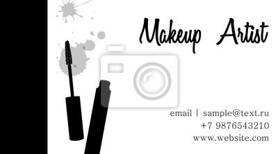Make Up Künstler Visitenkarte Vector Schablone Mit Make