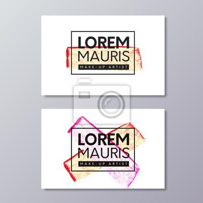 Make Up Oder Mode Und Beauty Industrie Visitenkarte Vektor
