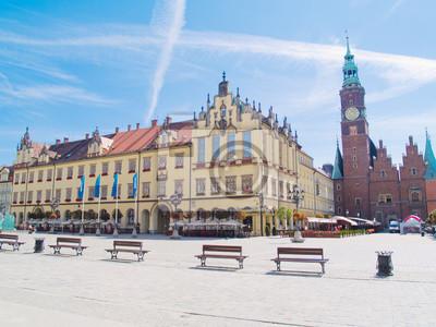 Fototapete maket square, Wroclaw, Polen