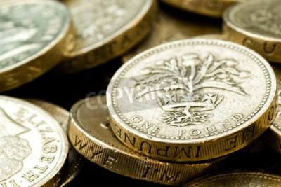 Makro Studio Schuss Von Verschiedenen Britischen Pfund Münzen