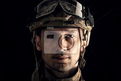 Fototapete Makroansicht des Militärs