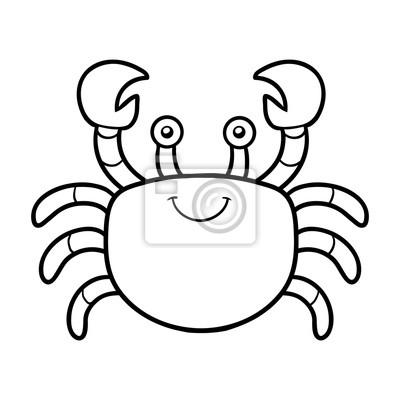 Malbuch Ausmalbilder Krabbe Fototapete Fototapeten Farbung