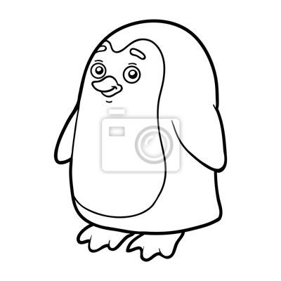 Malbuch Ausmalbilder Pinguin Fototapete Fototapeten