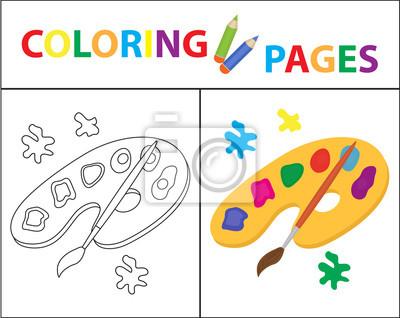 Malbuchbuchseite. skizze umriss und farbversion. färbung für ...
