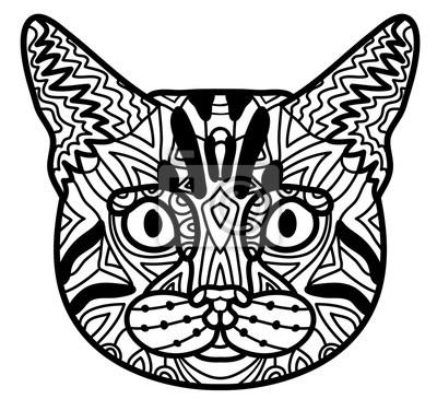 ausmalbilder katze muster - malvorlagen