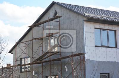 Malerei Putz Stuck Und Isolierung Aussen Haus Wand Fassade