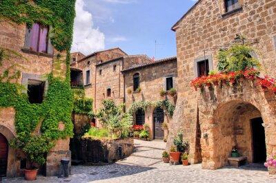 Fototapete Malerische Ecke eines malerischen Bergdorf in Italien