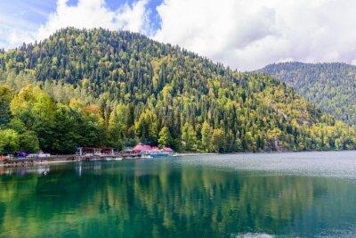 Fototapete Malerischen Alpensee Ritsa, Abchasien.