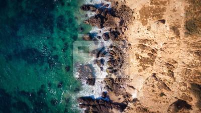 Malibu Point Dume Overhead von Drohne Land und Meer