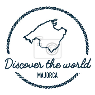 Mallorca Karte Umriss.Fototapete Mallorca Karte Umriss Jahrgang Entdecken Sie Die Welt Stempel