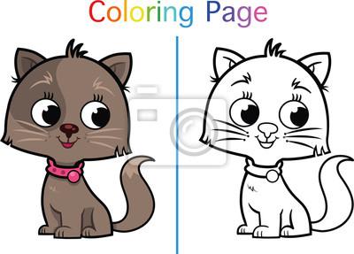 Malvorlage Für Kinder Katze Fototapete Fototapeten Färben