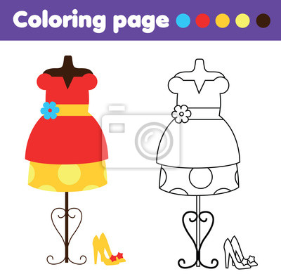 Groß Mode Kleid Malvorlagen Galerie - Beispiel Anschreiben für ...