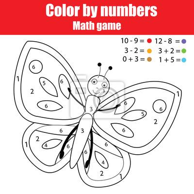 Großartig Farbe Nach Zahl Schmetterling Bilder - Entry Level Resume ...