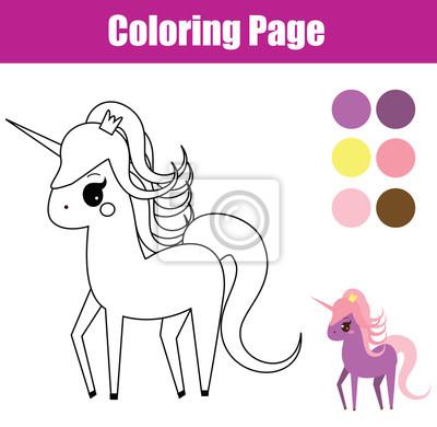 Malvorlage Padagogisches Kinderspiel Einhorn Feenhaftes Pony