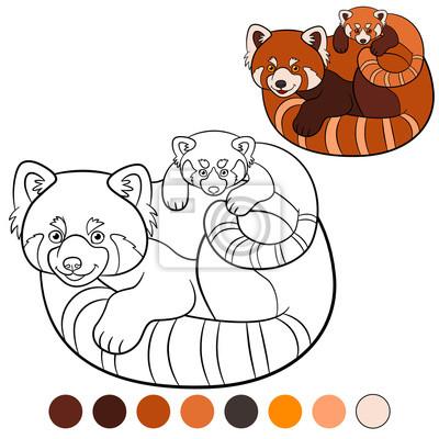 Malvorlage Roter Panda Mutter Roter Panda Mit Ihrem Baby