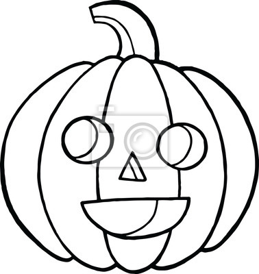 Malvorlage und gekritzel-skizze mit kürbis für halloween. autu ...