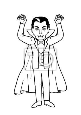 Malvorlage Vampir Dracula Fototapete Fototapeten Scarey