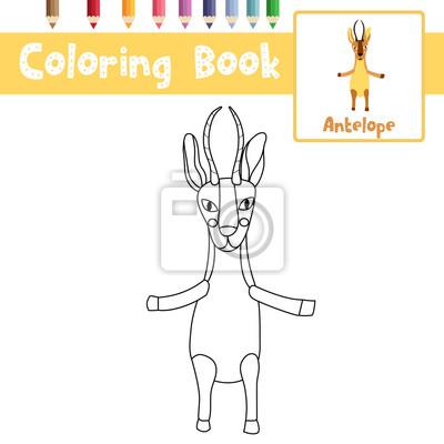 Malvorlage von afrikanischen tier antilope stehen auf zwei beinen ...