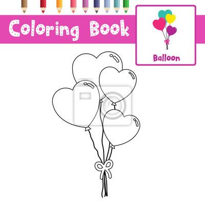 Malvorlage von ballon für vorschulkinder tätigkeit pädagogisches ...