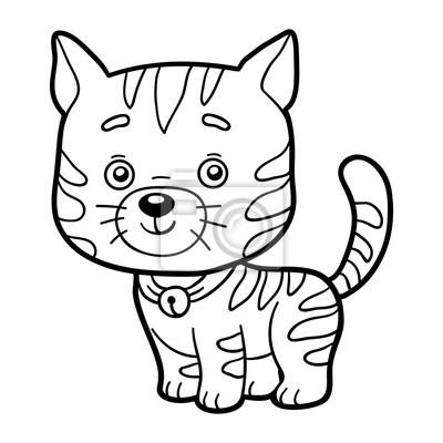 Malvorlagen Ausmalbilder Katze Fototapete Fototapeten Färbung