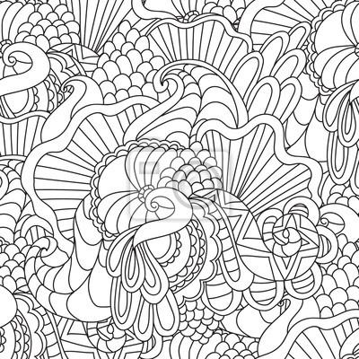 Malvorlagen Für Erwachsene Dekorative Hand Gezeichnet Doodle