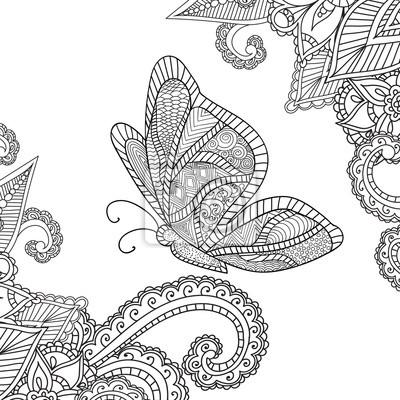 Malvorlagen Für Erwachsene Henna Mehndi Doodles Abstract Floral
