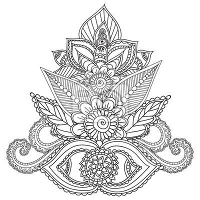 Malvorlagen für erwachsene. henna mehndi gekritzel abstrakte ...