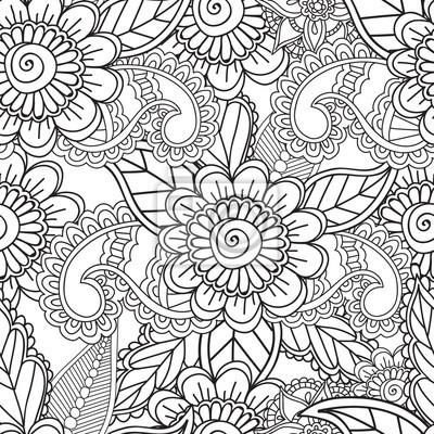 Malvorlagen für erwachsene. seamles henna mehndi gekritzel abstrakte ...