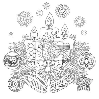 malvorlage weihnachten erwachsene - malbild