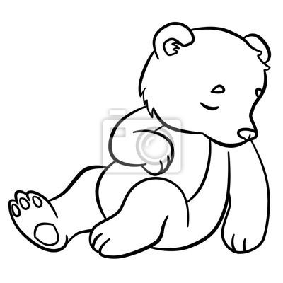 Malvorlagen Wilde Tiere Kleine Niedliche Babybär Schläft