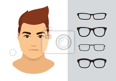 Top-Mode günstigen preis genießen anders Fototapete: Man brillenformen für runde mann gesicht typ. verschiedene  formen
