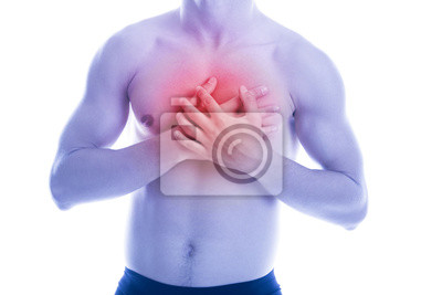 Man hat Herzschmerzen in der Brust