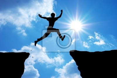 Fototapete Man jump