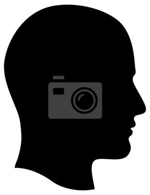 Fototapete Man Leitung Profil