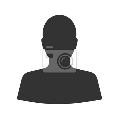 Fototapete Man's Silhouette Glyph-Symbol