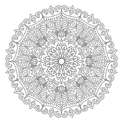 Mandala coloring book vector illustration fototapete ...