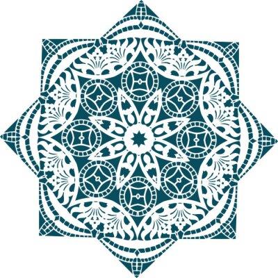 Fototapete Mandala ethnischen indischen Illustration Design