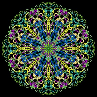 Fototapete Mandala Farbe