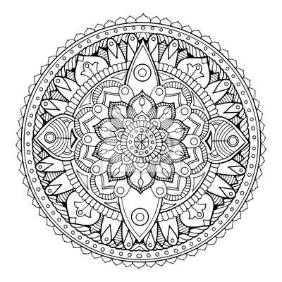 Mandala Färbung Buch Vektor-Illustration