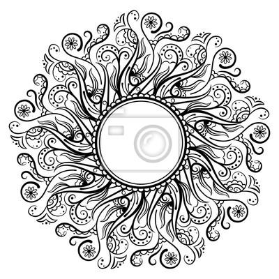 Mandala färbung buch vektor-illustration fototapete • fototapeten ...