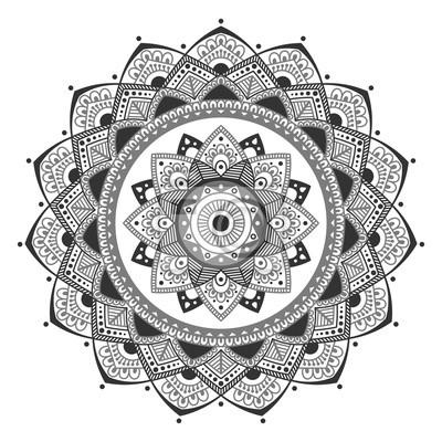 Mandala indisches antistressmedaillon. abstrakte islamische blume ...