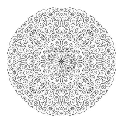 Mandala, vorlage malbuch für erwachsene, meditationshilfe, zur ...