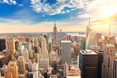 Fototapete Manhattan aerial view
