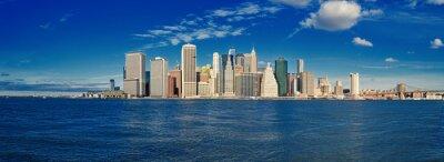 Fototapete Manhattan an einem sonnigen Tag.