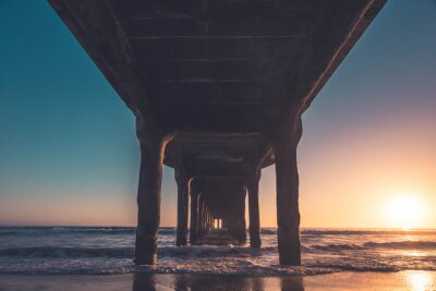Manhattan Beach Pier Sonnenuntergang