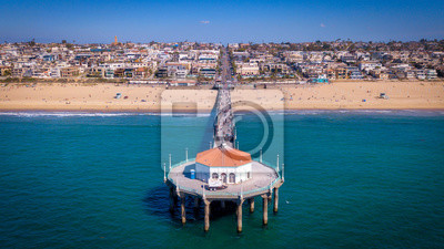 Manhattan Beach Pier von Drohne