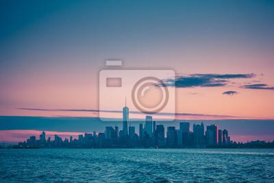 Manhattan New York Sonnenaufgang