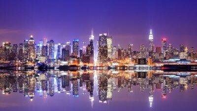 Fototapete Manhattan Skyline mit Reflexionen